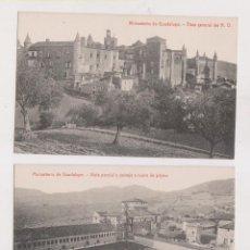 Postales: 4 POSTALES DEL MONASTERIO DE GUADALUPE. CÁCERES. EXTREMADURA. FOTOTIPIA THOMAS.. Lote 194659158