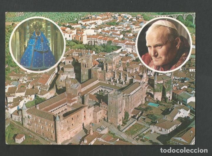 POSTAL CIRCULADA - GUADALUPE 8 - VISITA DE JUAN PABLO II - CACERES - EDITA PAISAJES ESPAÑOLES (Postales - España - Extremadura Moderna (desde 1940))