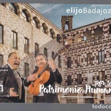 Postales: BADAJOZ.- PATRIMONIO HUMANO. Lote 195027752