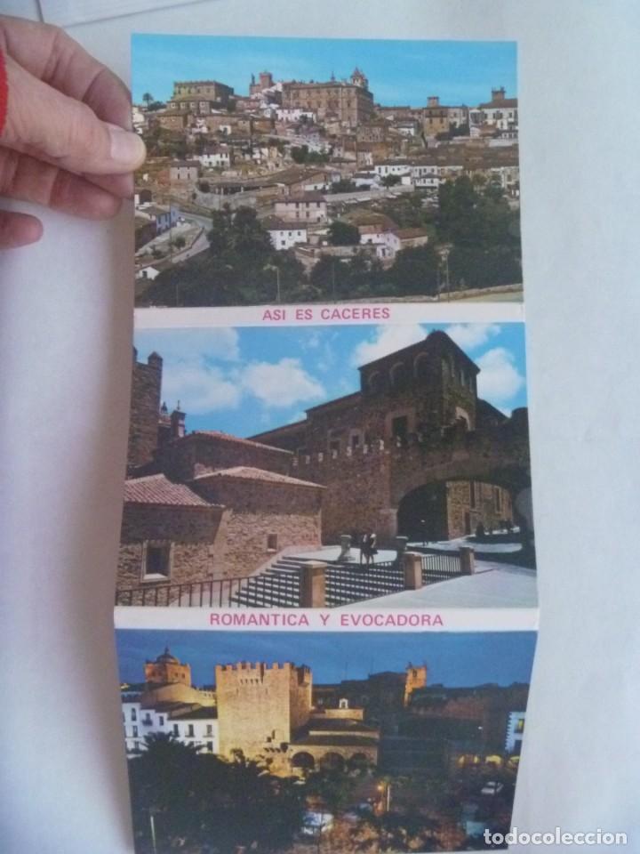 ACORDEON DE 10 POSTALES DE CACERES: ASI ES CACERES, ROMANTICA Y EVOCADORA (Postales - España - Extremadura Moderna (desde 1940))