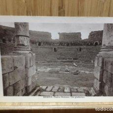 Postales: POSTAL DE MERIDA.TEATRO ROMANO.LAS GRADERIAS.ALMIRALL.. Lote 195244071