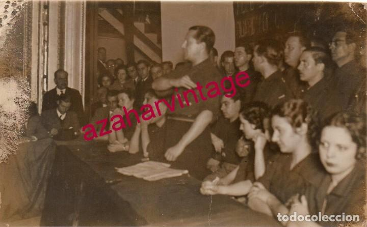 CACERES, 1936, CINE NORBA, MITIN DE JOSE ANTONIO PRIMO DE RIVERA, INEDITA, FOT.JAVIER (Postales - España - Extremadura Antigua (hasta 1939))