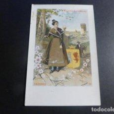 Postales: CACERES TIPO DE MUJER Y ESCUDO POSTAL EDICION S. CALLEJA COL. MUJERES ESPAÑOLAS SIN DIVIDIR. Lote 196452922