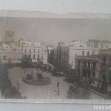 Postales: BADAJOZ PLAZA DE CERVANTES POSTAL. Lote 197430162
