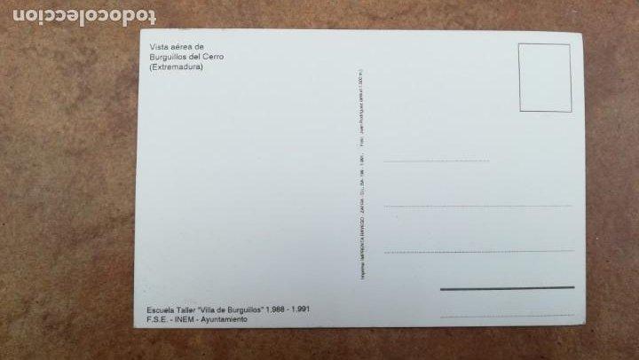 Postales: POSTAL BURGUILLOS DEL CERRO, VISTA AEREA, BADAJOZ, AÑO 1988-1991 - Foto 2 - 198569583