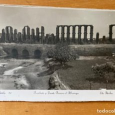 Cartes Postales: ANTIGUA POSTAL MERIDA BADAJOZ ACUEDUCTO PUENTE ROMANO ALBARREGAS ED ARRIBAS 82. Lote 198615573