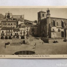 Postales: POSTAL EXTREMADURA TRUJILLO PLAZA MAYOR D¡CON LA PARROQUIA DE SAN MARTIN . Lote 198827015