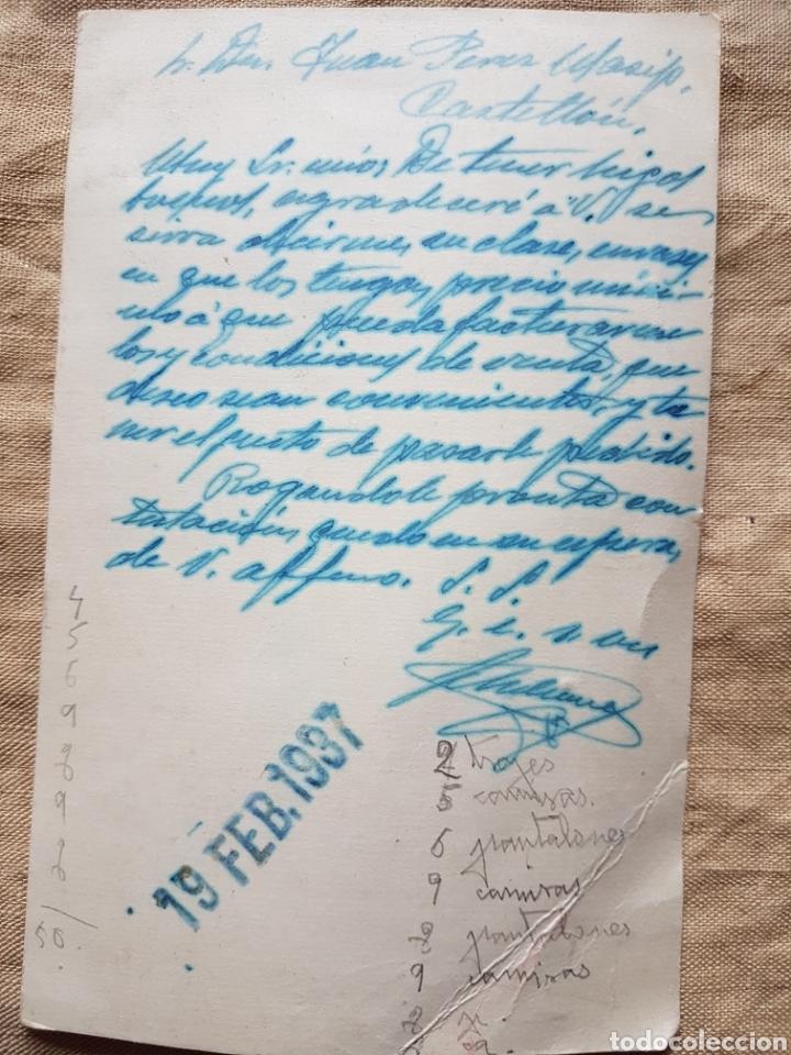 Postales: Postal guerra civil Coloniales Ledesma Cabeza del Buey Badajoz 1937 w - Foto 2 - 199203048