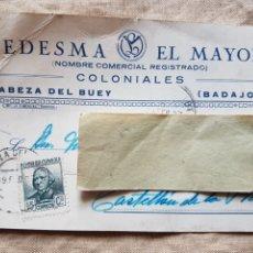 Postales: POSTAL GUERRA CIVIL COLONIALES LEDESMA CABEZA DEL BUEY BADAJOZ 1937 W. Lote 199203048