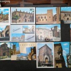 Postales: CÁCERES, LOTE DE 12 POSTALES, SIN CIRCULAR. Lote 199367613