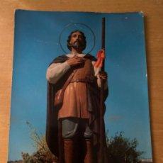 Postales: ANTIGUA POSTAL SAN ISIDRO LABRADOR HERMANDAD SINDICAL LABRADORES GANADEROS BADAJOZ. Lote 199473285