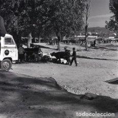 Postales: NEGATIVO ESPAÑA CÁCERES PLASENCIA FERIA GANADO 1970 KODAK 55MM GRAN FORMATO NEGATIVE SPAIN PHOTO. Lote 199805061