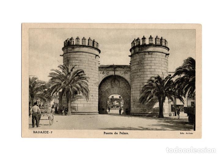 BADAJOZ.- PUERTA PALMAS. (Postales - España - Extremadura Antigua (hasta 1939))