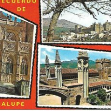 Postales: RECUERDO DE GUADALUPE (EXTREMADURA). Lote 205135893