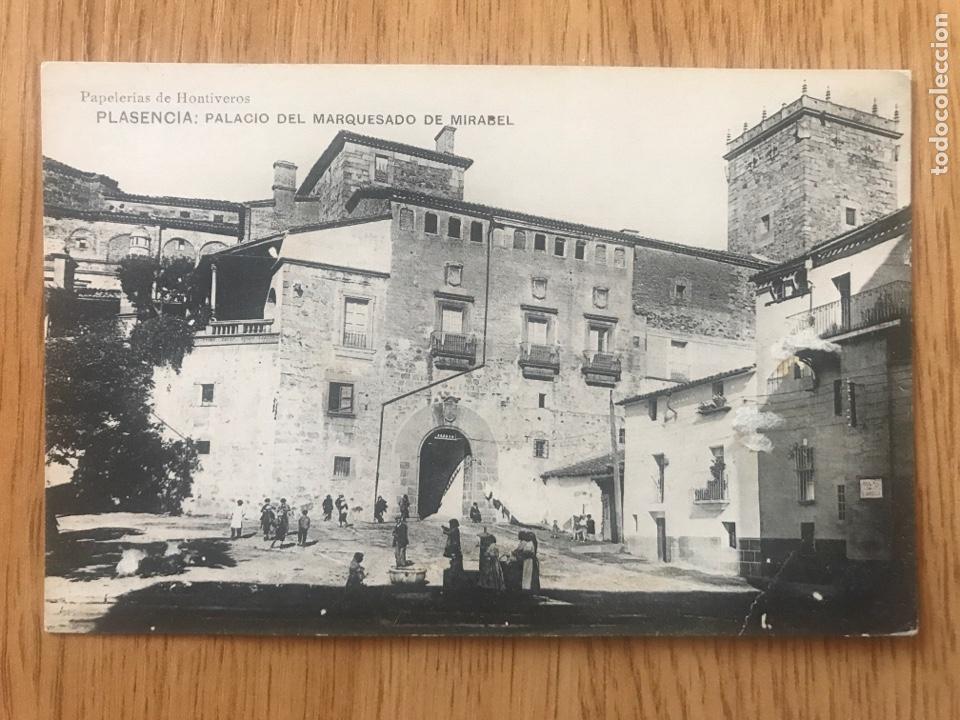 POSTAL PLASENCIA - PALACIO DEL MARQUESADO DE MIRABEL (Postales - España - Extremadura Antigua (hasta 1939))