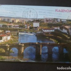 Postales: PLASENCIA CACERES PUENTE ROMANO Y VISTA PARCIAL. Lote 205375353