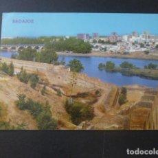 Postales: BADAJOZ MURALLAS DEL CASTILLO Y RIO GUADIANA. Lote 205377328