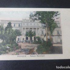 Postales: BADAJOZ PALACIO MUNICIPAL. Lote 205713263