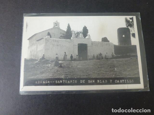 AZUAGA BADAJOZ SANTUARIO DE SAN BLAS Y CASTILLO (Postales - España - Extremadura Antigua (hasta 1939))