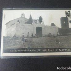 Postales: AZUAGA BADAJOZ SANTUARIO DE SAN BLAS Y CASTILLO. Lote 205714557
