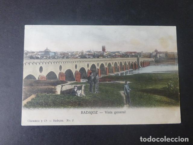 BADAJOZ VISTA GENERAL (Postales - España - Extremadura Antigua (hasta 1939))