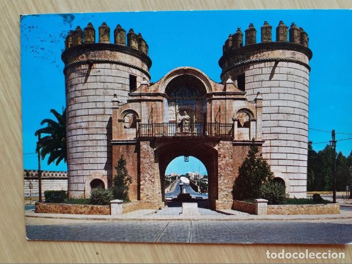 TARJETA POSTAL - BADAJOZ PUERTA DE PALMA 7 (Postales - España - Extremadura Moderna (desde 1940))