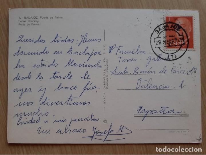 Postales: TARJETA POSTAL - BADAJOZ PUERTA DE PALMA 7 - Foto 2 - 205886952