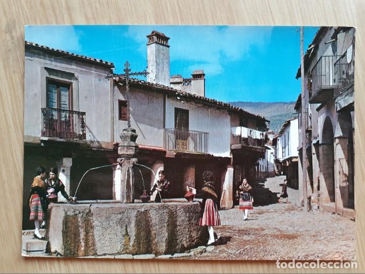 TARJETA POSTAL -1963 GUADALUPE - FUENTE DE LOS TRES CHORROS 15 - GARRABELLA (Postales - España - Extremadura Moderna (desde 1940))