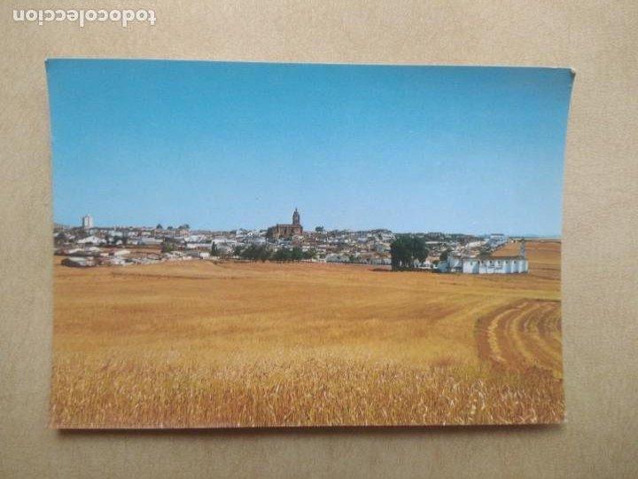 POSTAL BIENVENIDA, BADAJOZ VISTA PANORAMICA DE LA VILLA (Postales - España - Extremadura Moderna (desde 1940))
