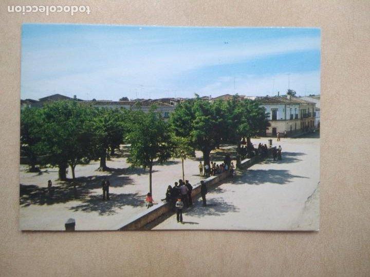 POSTAL GARROVILLAS, CACERES, N 6, PLAZA DE COLON ANTES LAGUNA (Postales - España - Extremadura Moderna (desde 1940))
