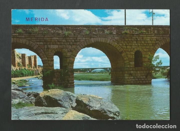 POSTAL SIN CIRCULAR - MERIDA 2051 - PUENTE ROMANO - EDITA ARRIBAS (Postales - España - Extremadura Moderna (desde 1940))