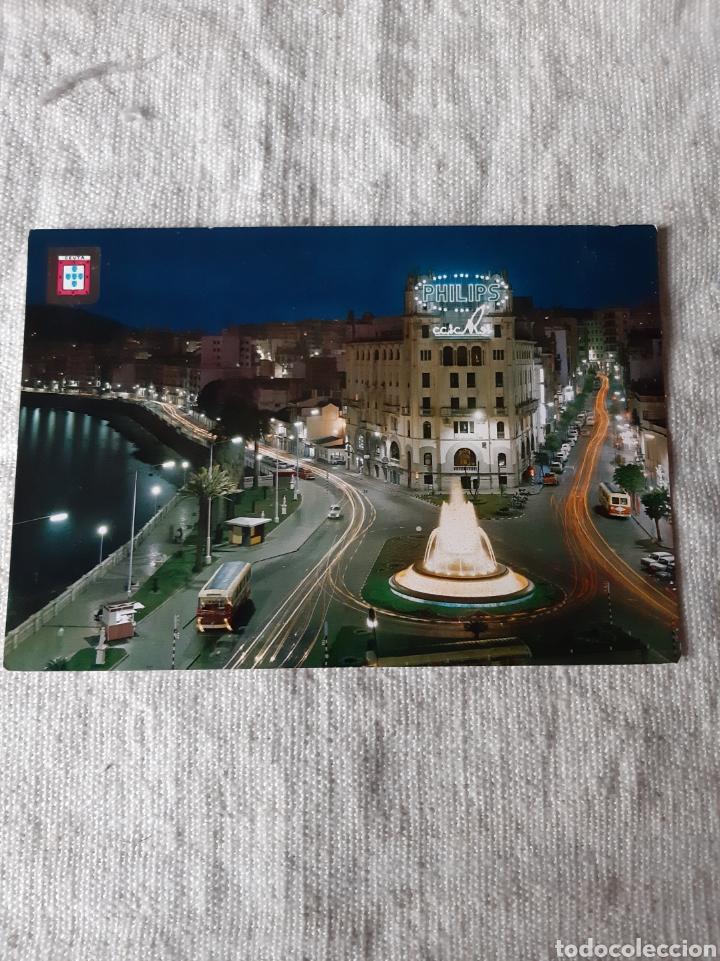CEUTA PLAZA GENERAL GALERA AUTOBUS EPOCA PUBLICIDAD ROTULO PHILIPS EDICION FISA BARCELONA (Postales - España - Extremadura Moderna (desde 1940))