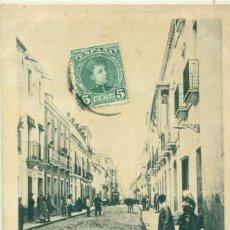 Postales: BADAJOZ CALLE DE MENACHO. CIRCULADA EN 1904.. Lote 207035012