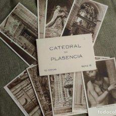 Postales: CATEDRAL DE PLASENCIA. 10 POSTALES BLANCO Y NEGRO. SERIE B. HUECOGRABADO RIEUSSET. SIN USAR. Lote 207077438