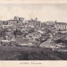 Postales: CACERES VISTA PARCIAL. ED. ARRIBAS. CIRCULADA EN 1938 CON CENSURA POCO VISIBLE. Lote 210041156