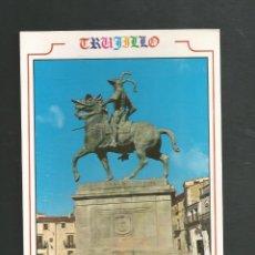 Postales: POSTAL SIN CIRCULAR - TRUJILLO 18 - ESTATUA DE FRANCISCO PIZARRO - CACERES - EDITA ARRIBAS. Lote 210539148