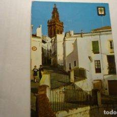 Postales: POSTAL JEREZ DE LOS CABALLEROS.- CALLE TIPICA TORRE S.MIGUEL. Lote 210706252