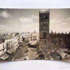 Postales: BADAJOZ POSTAL NO.1029, CATEDRAL Y PLAZA DE ESPAÑA. EDICIONES ARRIBAS (H.1950?) S/C. RARA!!. Lote 210827565