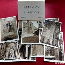 Postales: CATEDRAL DE PLASENCIA-CACERES-10 VISTAS-COMPLETA-EXCELENTE ESTADO. Lote 212187548