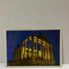Cartes Postales: TARJETA POSTAL. MERIDA. PATRIMONIO DE LA HUMANIDAD. 25.- TEMPLO DE DIANA. VISTA NOCTURNA. Lote 213310230