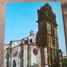 Postales: IGLESIA PARROQUIAL. AZUAGA BADAJOZ. 1970.. Lote 213316343