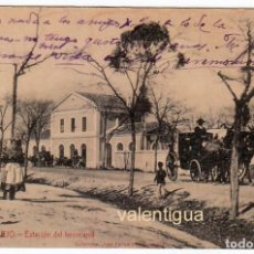 Postales: ÚNICA POSTAL ESTACIÓN DEL FERROCARRIL ALMENDRALEJO BADAJOZ COL JOSÉ FERNANDEZ GONZALEZ HACIA 1900 PT. Lote 214433897