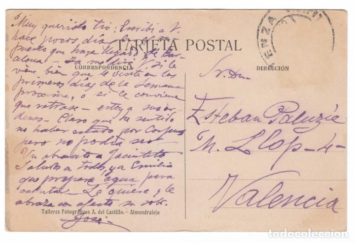 Postales: Única postal Estación del Ferrocarril Almendralejo Badajoz Col José Fernandez Gonzalez Hacia 1900 pt - Foto 2 - 214433897