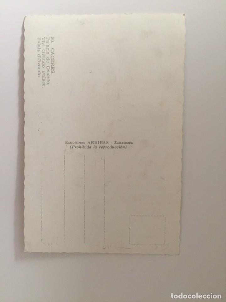 Postales: CÁCERES - PALACIO DE OVANDO - Nº 50 ED. ARRIBAS - Foto 2 - 215087058