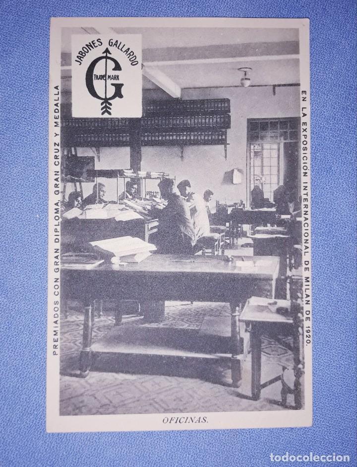 POSTAL ORIGINAL JABONES GALLARDO VILLANUEVA DE LA SERENA (BADAJOZ) OFICINAS SIN CIRCULAR (Postales - España - Extremadura Antigua (hasta 1939))