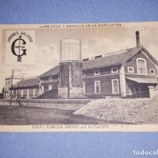 Postales: POSTAL ORIGINAL JABONES GALLARDO VILLANUEVA DE LA SERENA (BADAJOZ) VISTA PARCIAL DESDE LA ESTACION. Lote 218403305