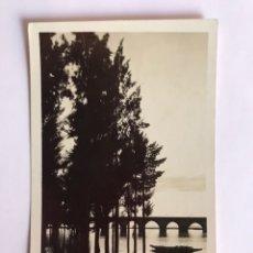 Postales: BADAJOZ POSTAL NO.6009, EL PUENTE SOBRE EL RÍO GUADIANA EDIC LOTY (A.1939) CON CENSURA MILITAR. Lote 218996002