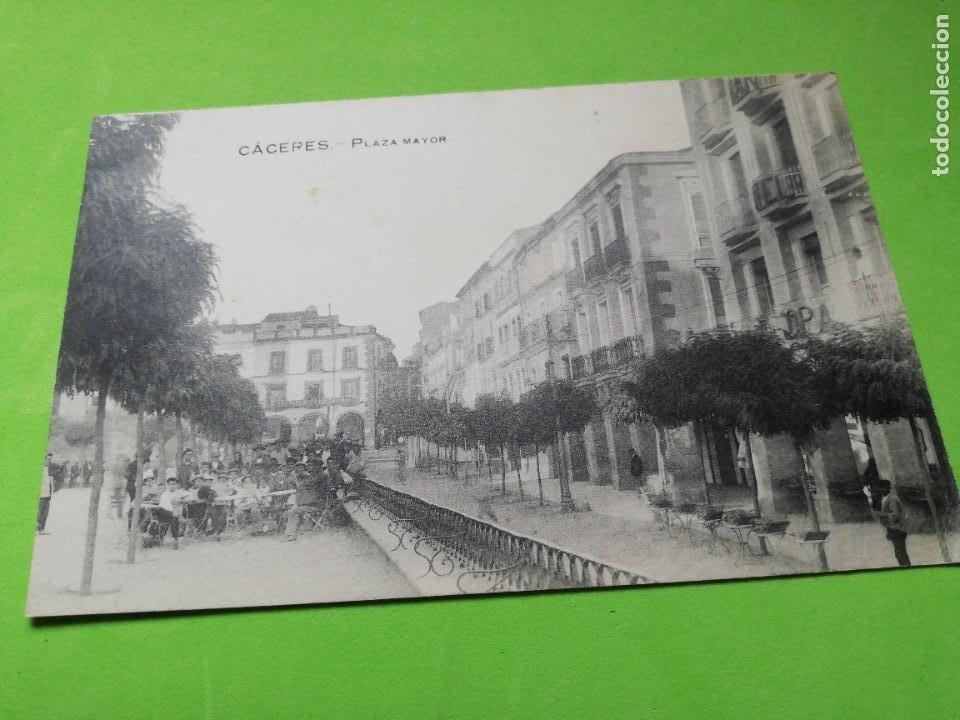 POSTAL ANTIGUA CÁCERES PLAZA MAYOR (Postales - España - Extremadura Antigua (hasta 1939))