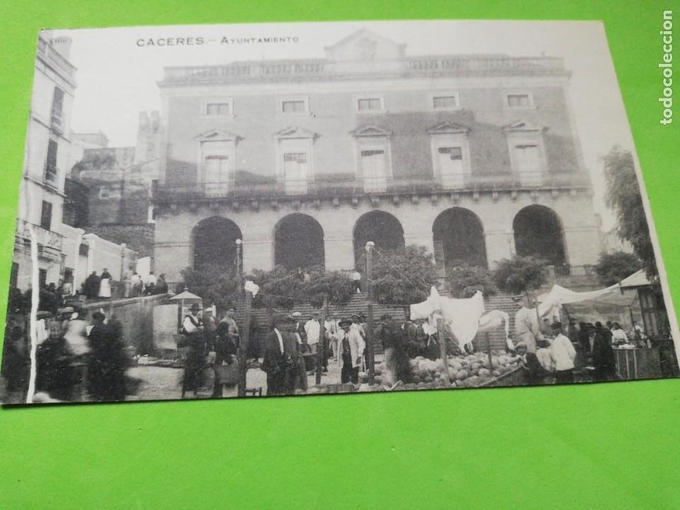 POSTAL ANTIGUA CÁCERES AYUNTAMIENTO (Postales - España - Extremadura Antigua (hasta 1939))