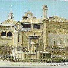 Postales: POSTAL * SIRUELA (BADAJOZ ) , FUENTE DE LA PLAZA Y FACHADA ESTE DE LA IGLESIA - ZERKOWITZ 1976. Lote 221436885